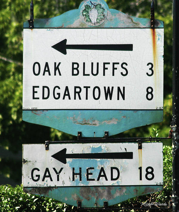 Street Art Print featuring the photograph Signs Of Simpler Times Marthas Vineyard Massachusetts by Michelle Wiarda