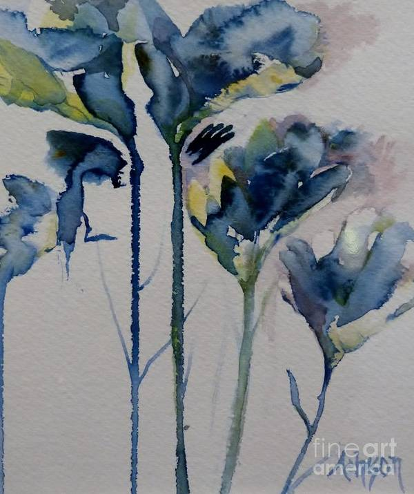 Hortensia Art Print featuring the painting Simply Flowers by Donna Acheson-Juillet