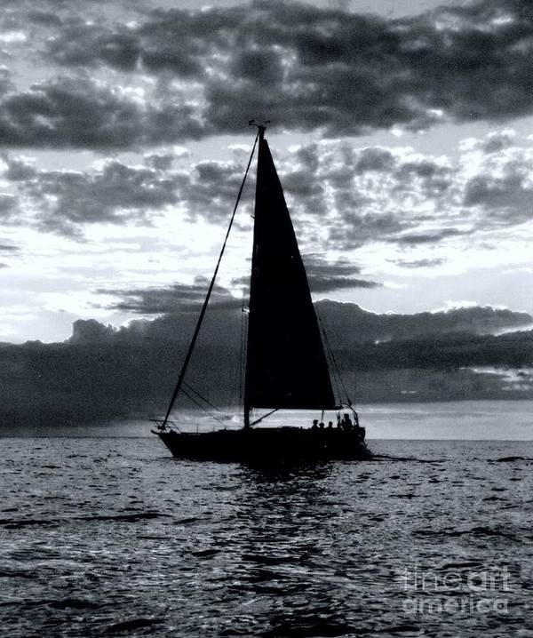 Sailing Art Print featuring the photograph Sunset Sailing -2 by Kathleen Struckle