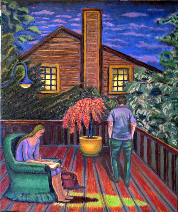 Cape Cod Art Print featuring the painting Cape Cod Evenings by Susan Stewart