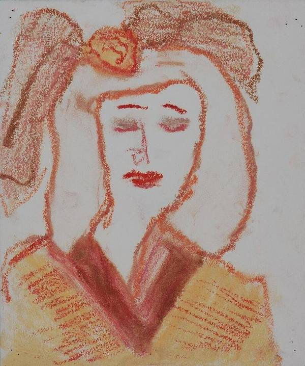 Fine Art Art Print featuring the drawing Doll by Iris Gill