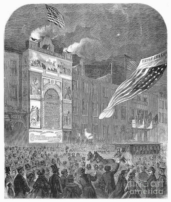 1864 Art Print featuring the photograph Abolition Of Slavery, 1864 by Granger