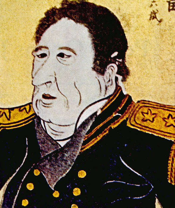 19th Century Art Print featuring the photograph Commodore Matthew C. Perry 1794-1858 by Everett