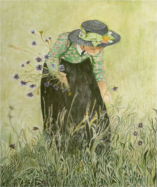 Nature Art Print featuring the painting Field Of Dreams by Carla Van Velze