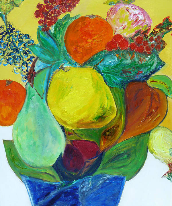 Still Life Art Print featuring the painting From The Orchard by Ulla Heckel