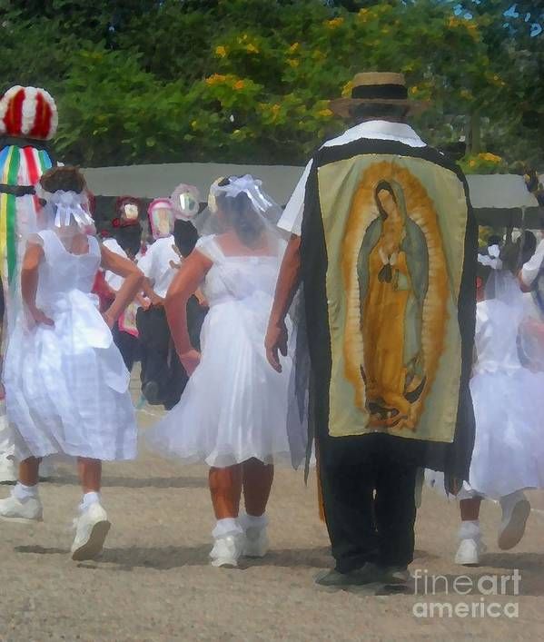Oldest Las Matachines Celebration In The World Art Print featuring the photograph Las Matachines Dance by Ron Lynn