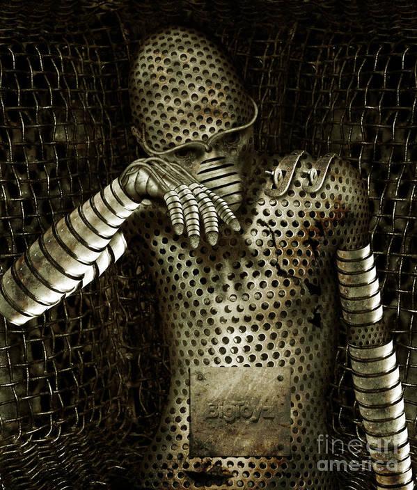 Robot Art Print featuring the digital art Mr. K by Alexei Solha