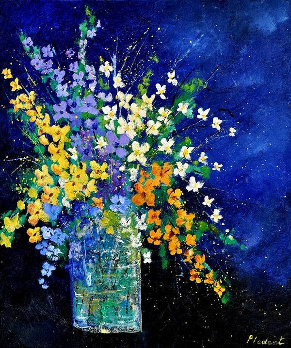 Flowers Art Print featuring the painting Bunch 0140 by Pol Ledent