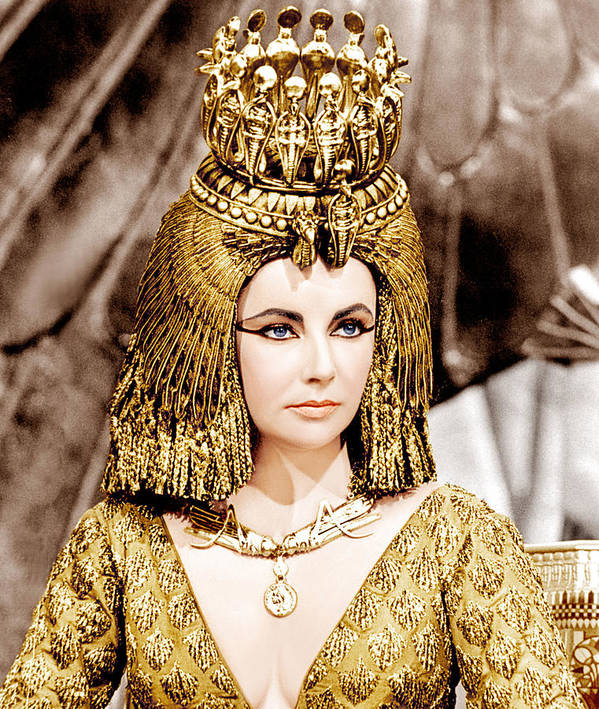 1960s Portraits Art Print featuring the photograph Cleopatra, Elizabeth Taylor, 1963 by Everett