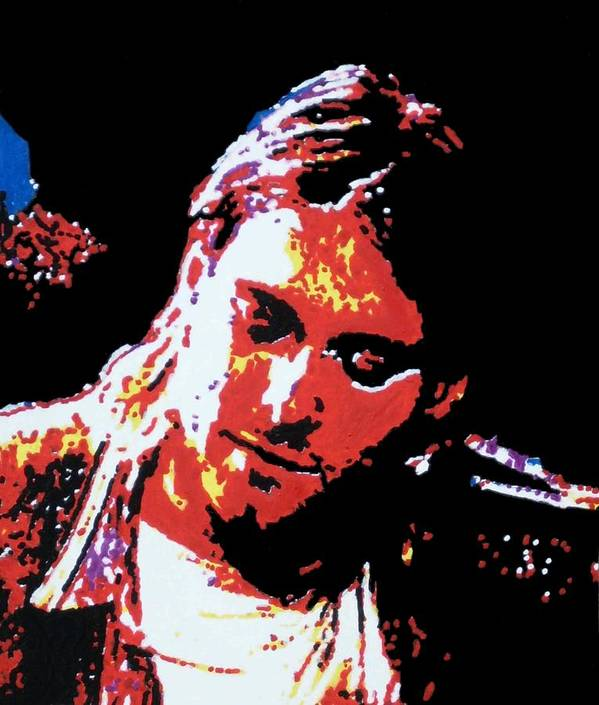Kurt Cobain Art Print featuring the painting Kurt Cobain by Grant Van Driest