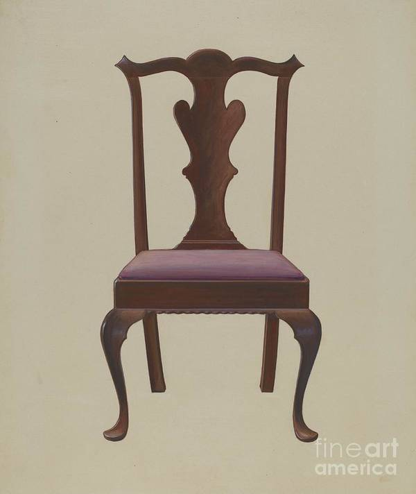 Art Print featuring the drawing Side Chair by Arthur Johnson