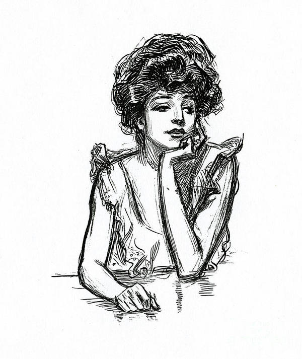 Gibson Girl Drawings