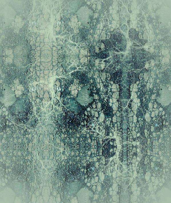 Robert Kernodle Digital Abstracts Art Print featuring the digital art Abstract No 22 by Robert G Kernodle