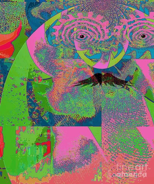 Fania Simon Art Print featuring the mixed media Abstraction Of A New World by Fania Simon