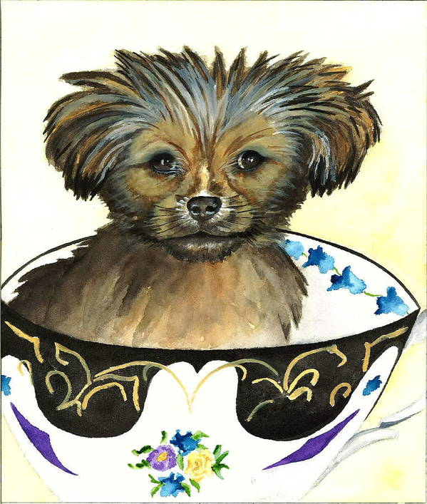 Dog Pictures Art Print featuring the painting Bear Dog by Kimberly Lavelle