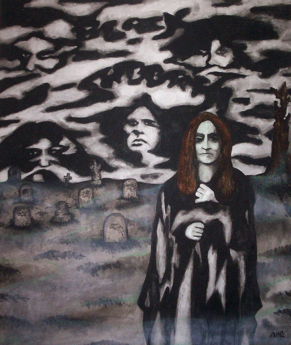 Ozzy Osbourne Art Print featuring the painting Black Sabbath Tribute by Sam Hane