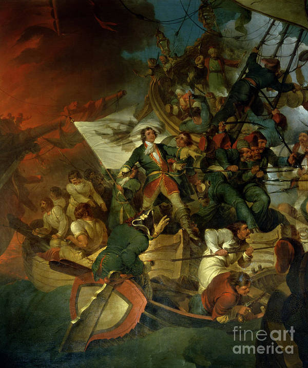 Russian Capture Of The Azov Sea From The Crimean Tatar Vassals Of Turkey Art Print featuring the painting Capture Of Azov by Sir Robert Kerr Porter