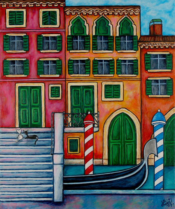 Venice Art Print featuring the painting Colours Of Venice by Lisa Lorenz