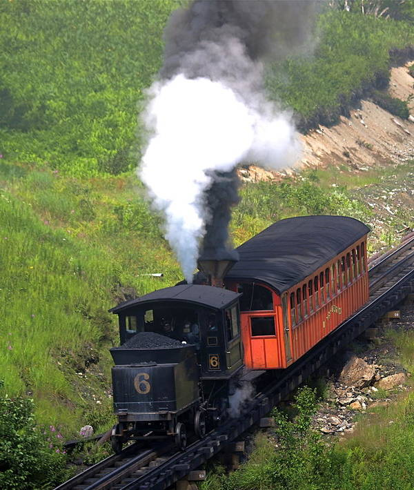 Train Art Print featuring the photograph Coming Down The Mountain by Peter Gray
