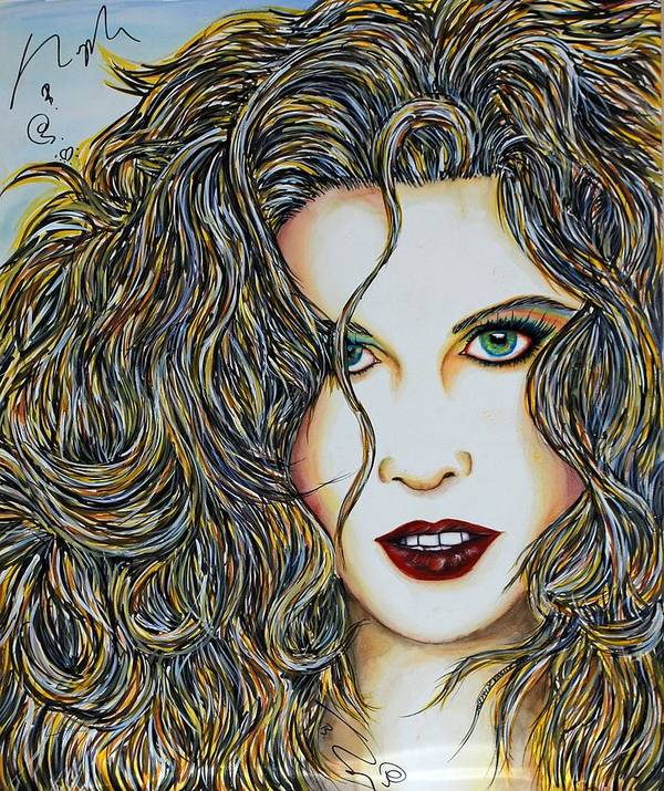 Actress Art Print featuring the mixed media Dam...lay Me Down by Joseph Lawrence Vasile