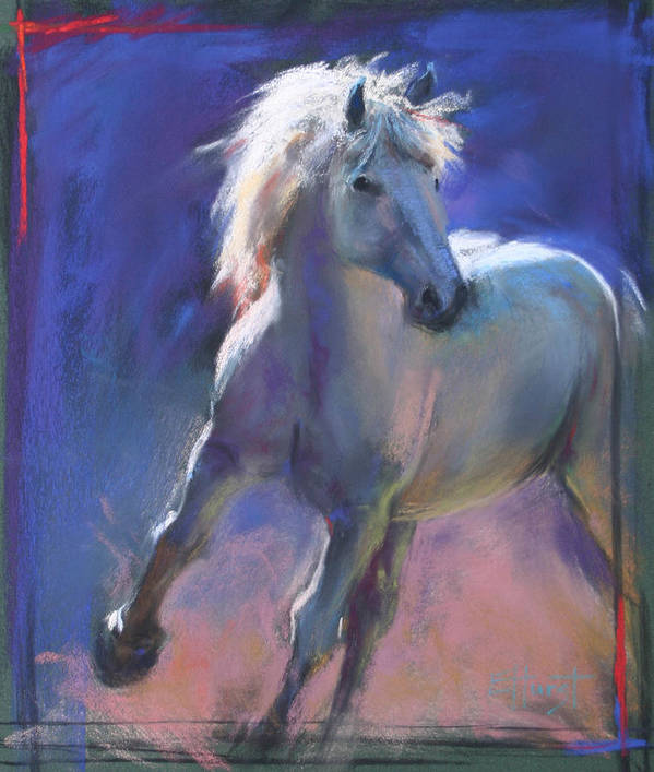 Pastel Paintings Art Print featuring the painting Focus by Elaine Hurst