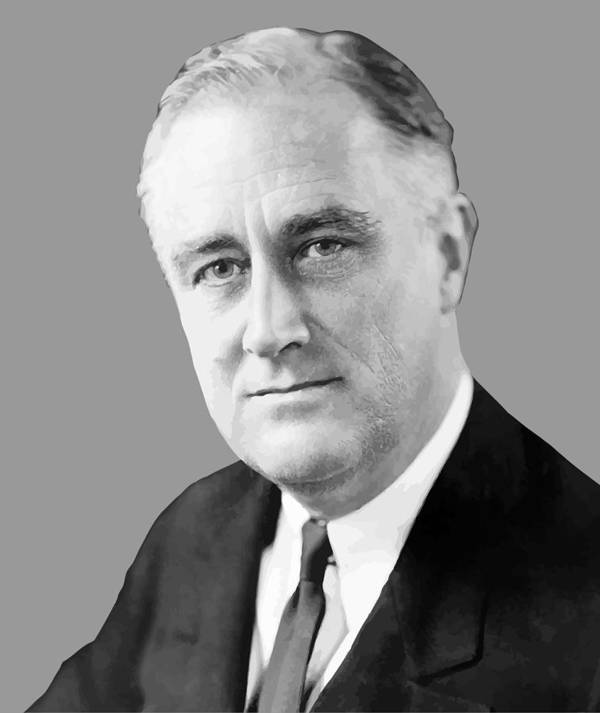 Franklin Roosevelt Art Print featuring the painting Franklin Delano Roosevelt by War Is Hell Store
