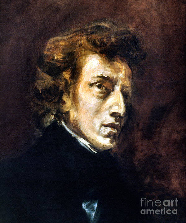 1838 Art Print featuring the photograph Frederic Chopin by Granger