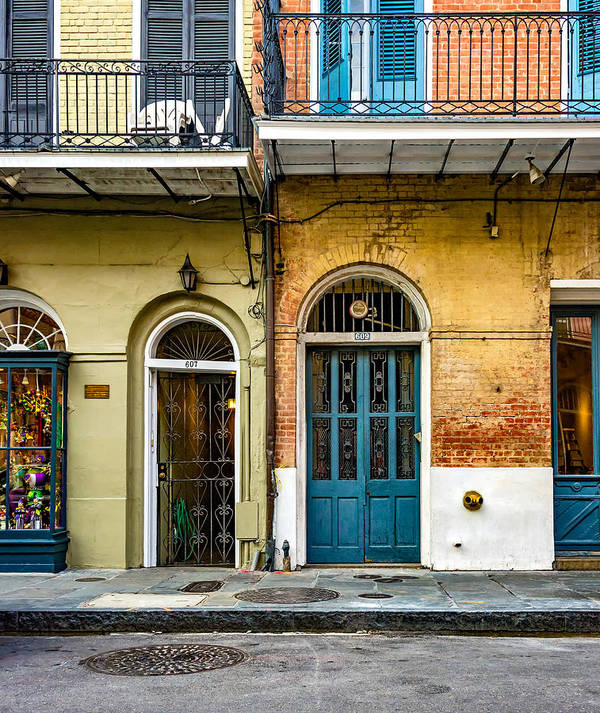 French Quarter Art Print featuring the photograph Historic Entrances by Steve Harrington
