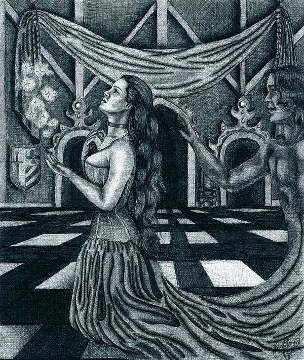 Fantasy Art Print featuring the drawing Hopes And Dreams by Scarlett Royal
