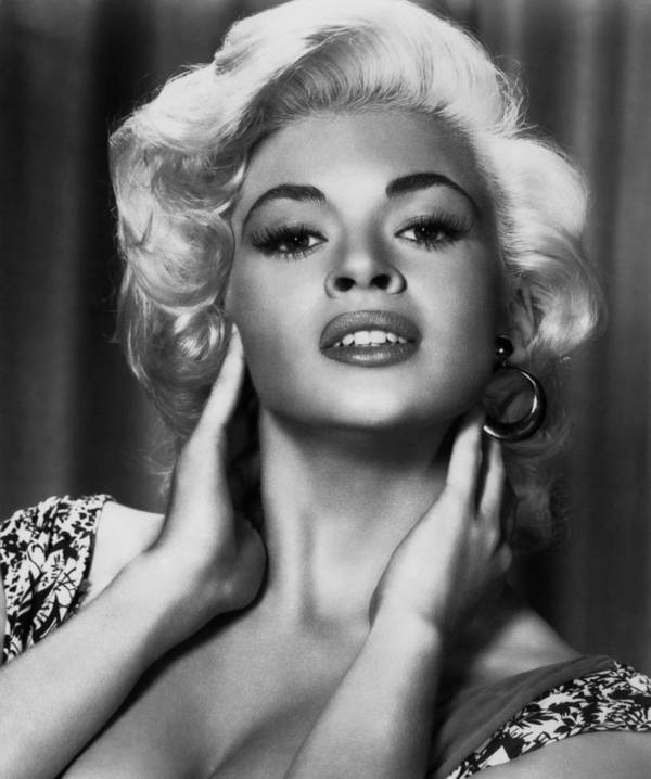 1950s Portraits Print featuring the photograph Jayne Mansfield, Ca. 1950s by Everett