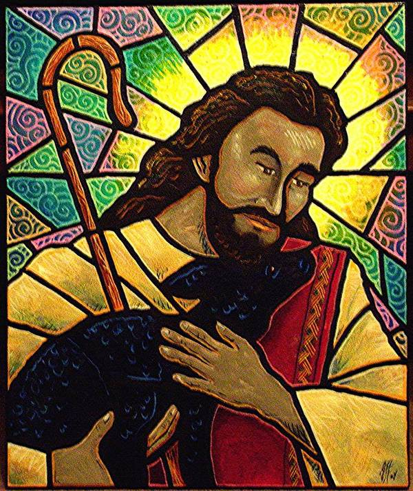 Jesus Art Print featuring the painting Jesus The Good Shepherd by Jim Harris