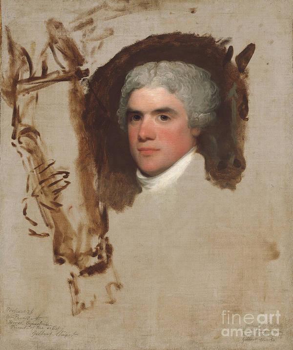 Art Print featuring the painting John Bill Ricketts by Gilbert Stuart