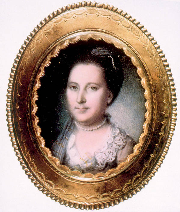First Lady Art Print featuring the photograph Martha Washington 1731-1802, First Lady by Everett