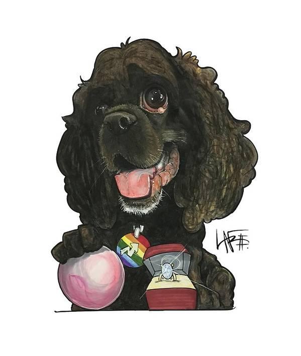 Pet Portrait Art Print featuring the drawing Molina 3397 by John LaFree