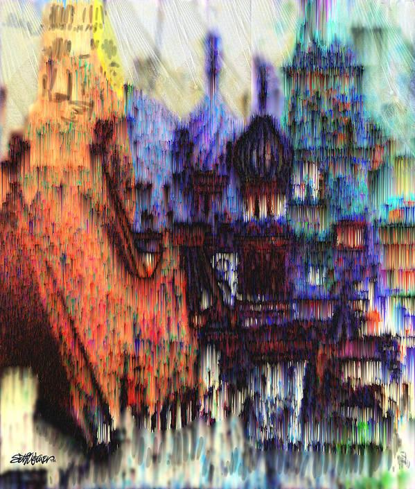 Fog Art Print featuring the digital art Moscow In The Rain by Seth Weaver