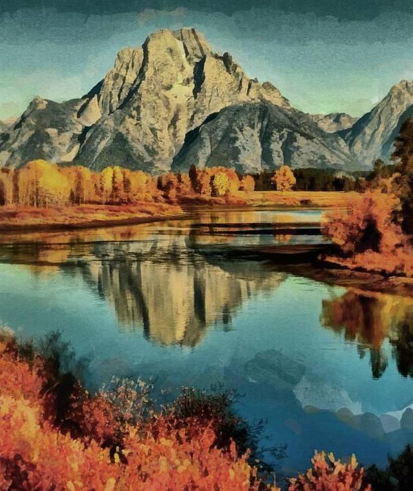 Photo Manipulation Digital Art Styles Art Print featuring the digital art Mountain Majesty by Mario Carini