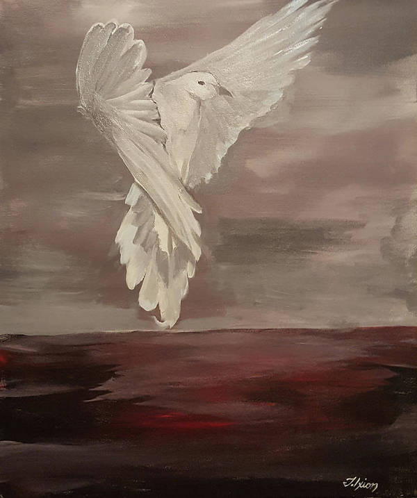 Wildlife Art Print featuring the painting Mourning Dove by Theus Ixion