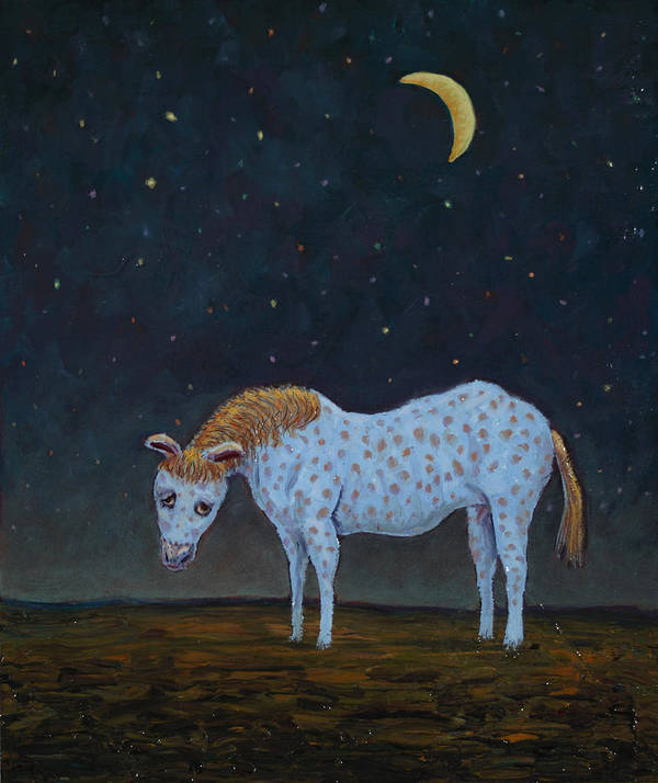 Retirement Art Print featuring the painting Out To Pasture by James W Johnson