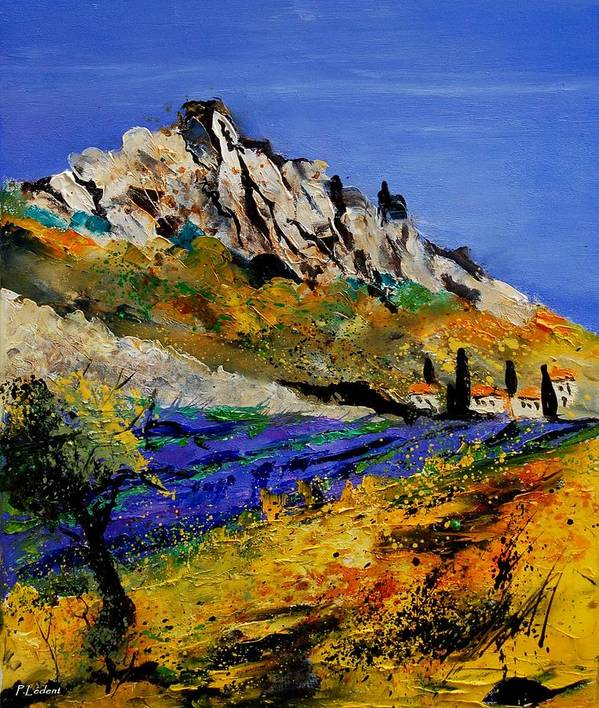 Flowers Art Print featuring the painting Provence 560908 by Pol Ledent