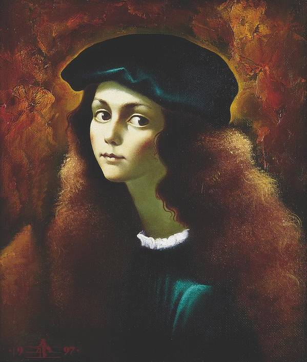 Portrait Art Print featuring the painting Rafael by Andrej Vystropov