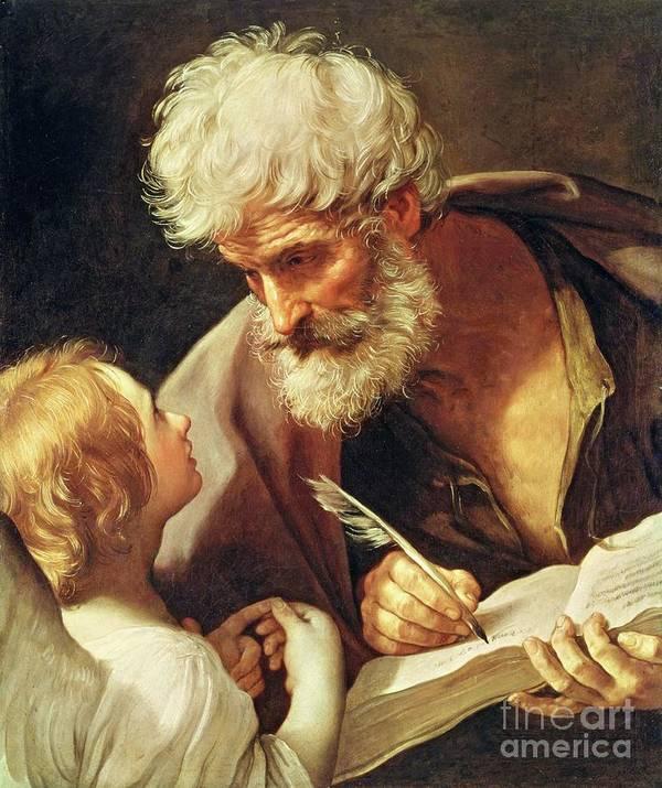 Saint Art Print featuring the painting Saint Matthew by Guido Reni