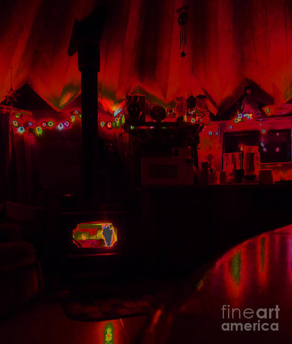Red Art Print featuring the photograph Shelter by JoAnn SkyWatcher