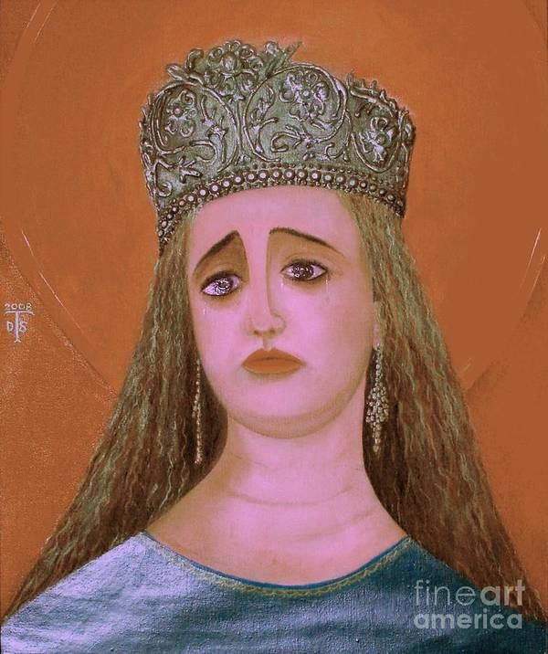 Face Paintings Art Print featuring the painting St. Martha by Teo Santa