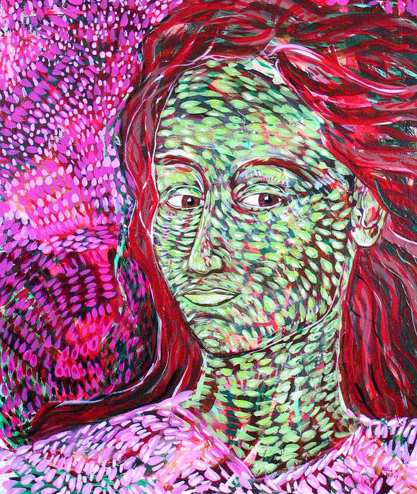 Female Art Print featuring the painting Stay With Me by Rollin Kocsis