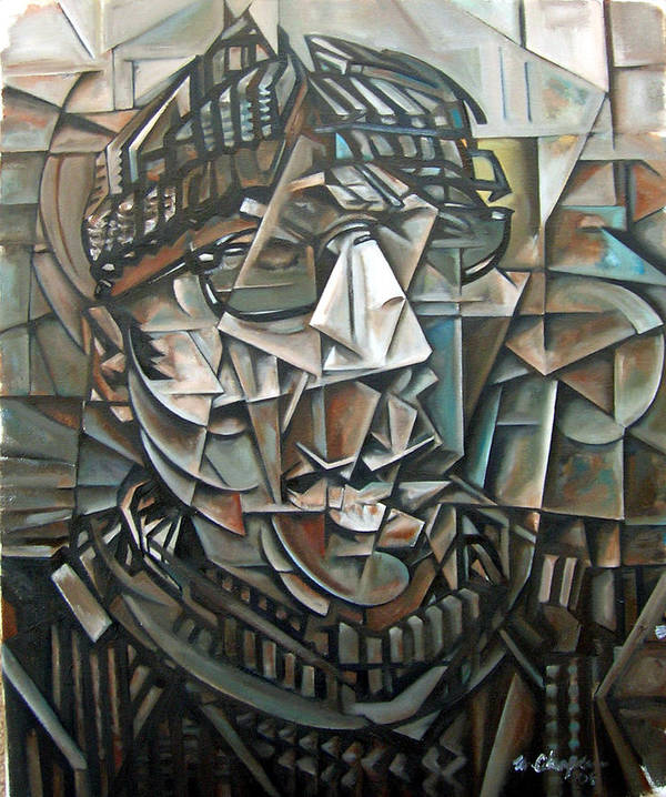 Cecil Taylor Piano Jazz Cubism Art Print featuring the painting The Boundary by Martel Chapman