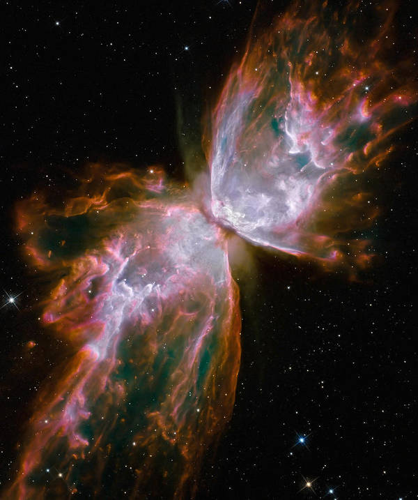Planetary Print featuring the photograph The Butterfly Nebula by Stocktrek Images