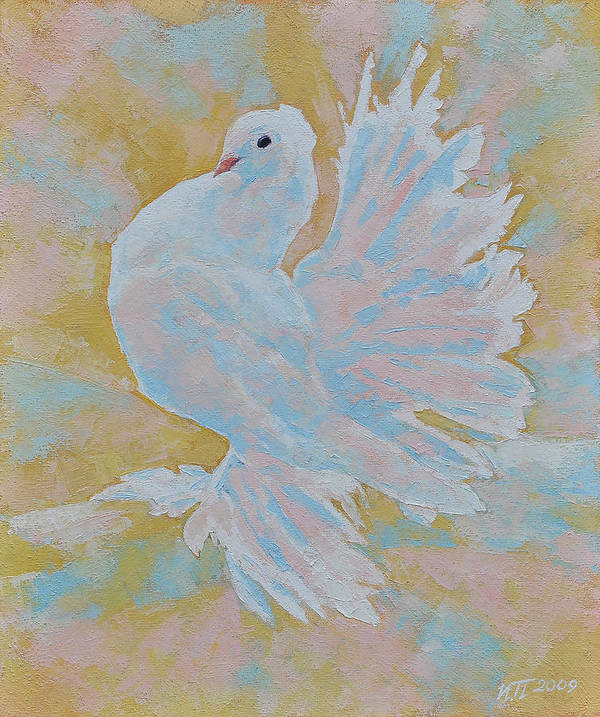 Dove Art Print featuring the painting The Dove by Iliyan Bozhanov