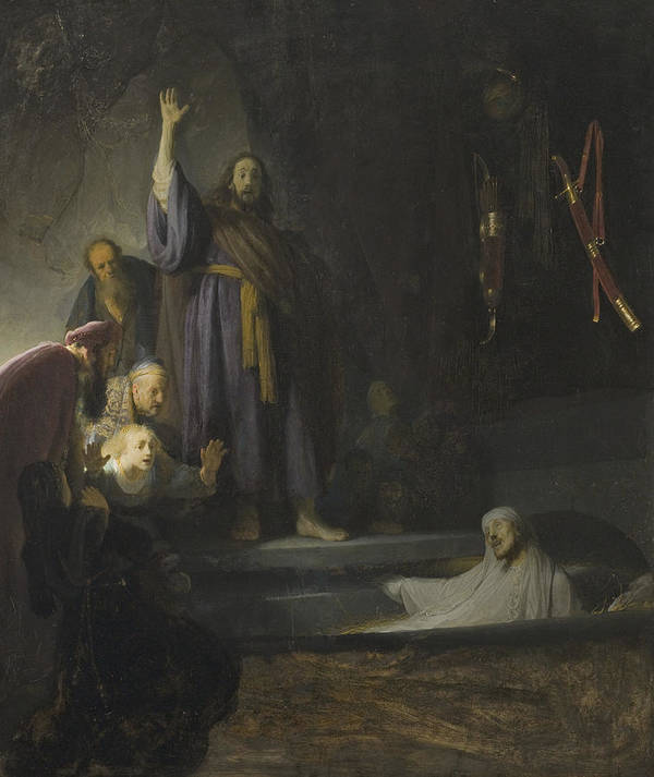 Rembrandt Art Print featuring the painting The Raising Of Lazarus by Rembrandt