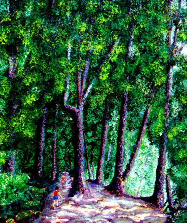 Trail Art Print featuring the painting The Trail by Stan Hamilton