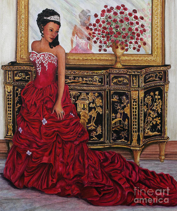 Lady Art Print featuring the painting Today Is The Day by Pamela B Smith